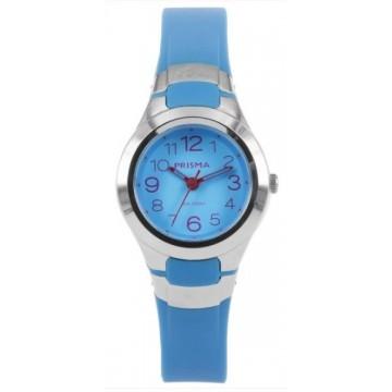 lichtblauw prisma horloge