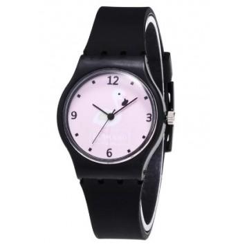 zwart flamingo horloge